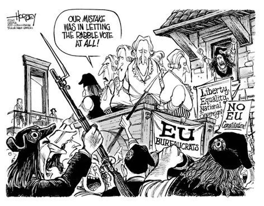 Another French Revolution... - Originally published on June 1, 2005 Photo: David Horsey, Seattlepi.com