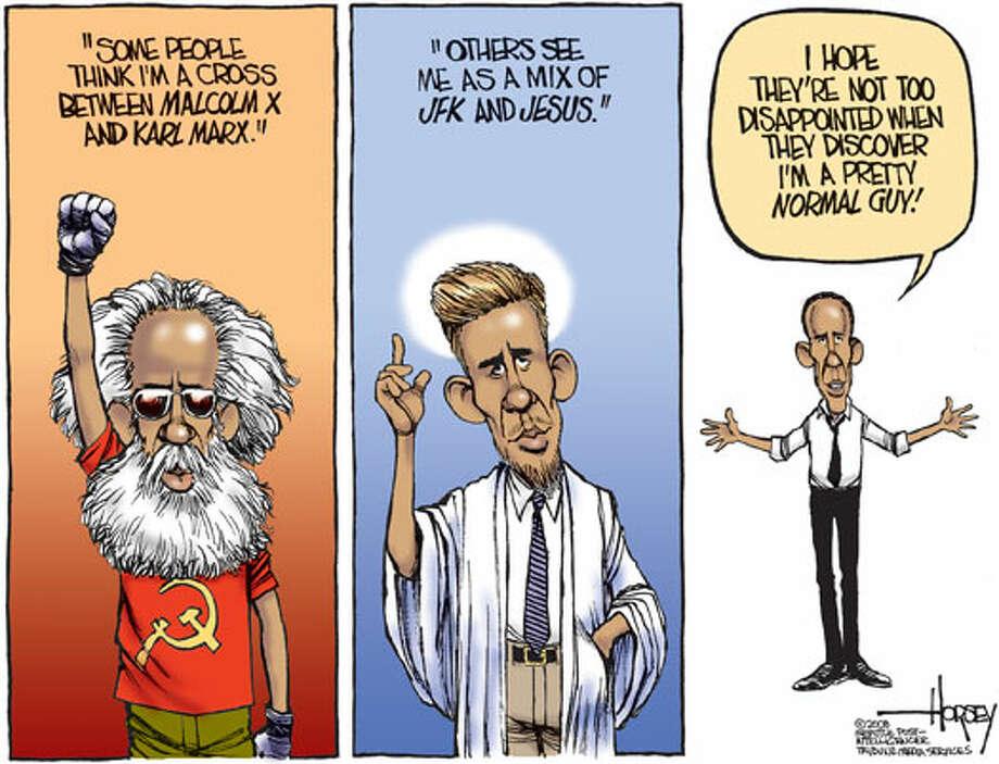 The real Obama? - Originally published on November 2, 2008 Photo: David Horsey, Seattlepi.com