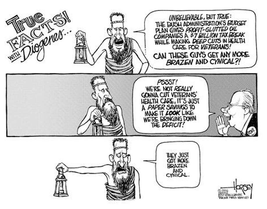 True Facts! With Diogenes... - Originally published on March 3, 2006 Photo: David Horsey, Seattlepi.com