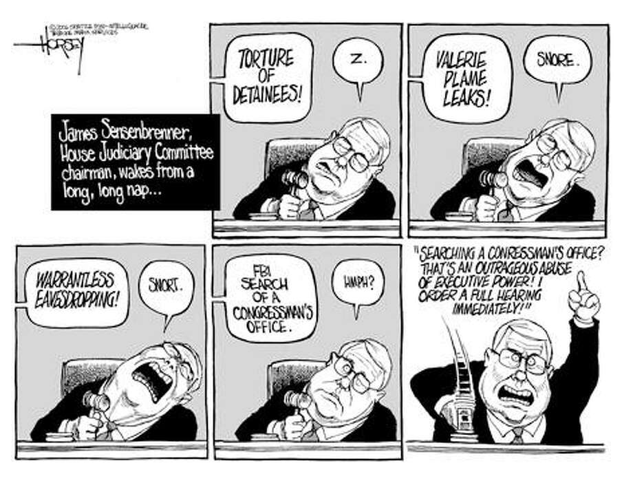 James Sensenbrenner wakes up ... - Originally published on June 1, 2006 Photo: David Horsey, Seattlepi.com