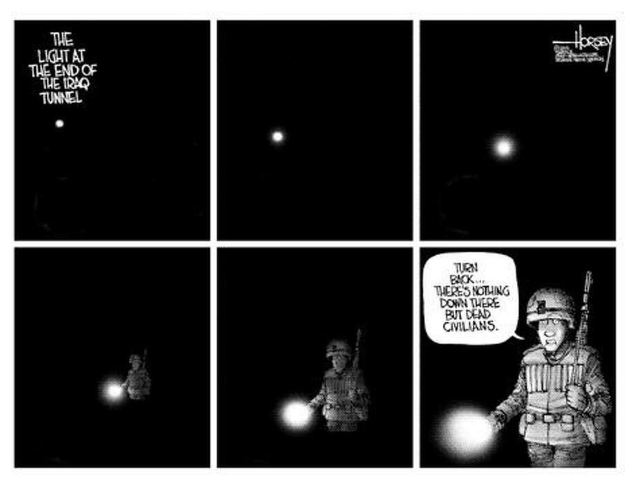 The light at the end of the Iraq tunnel... - Originally published on June 6, 2006 Photo: David Horsey, Seattlepi.com