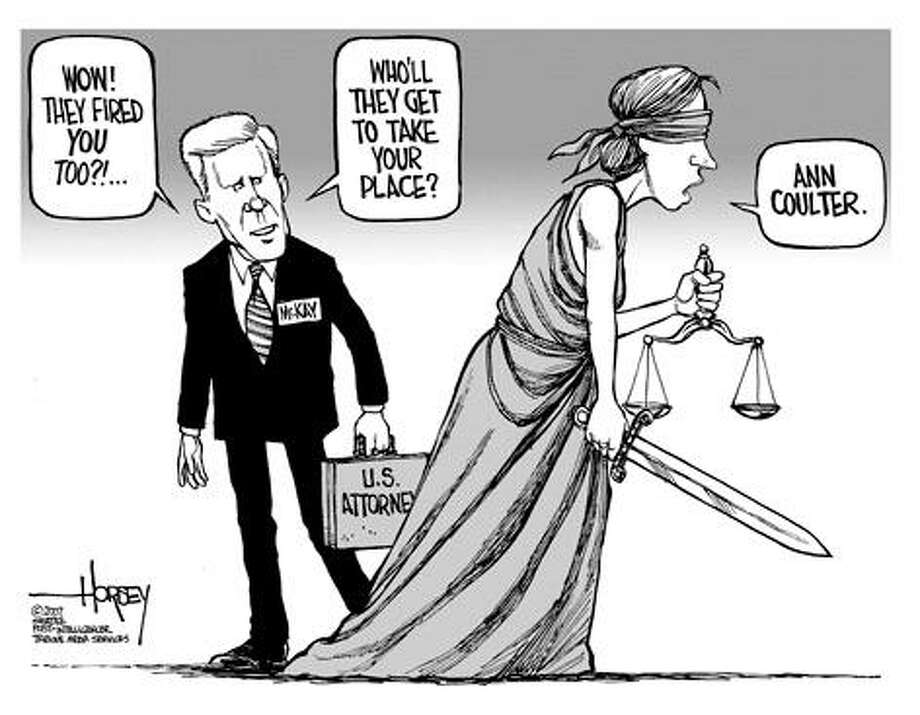On McKay firing... - Originally published on March 21, 2007 Photo: David Horsey, Seattlepi.com