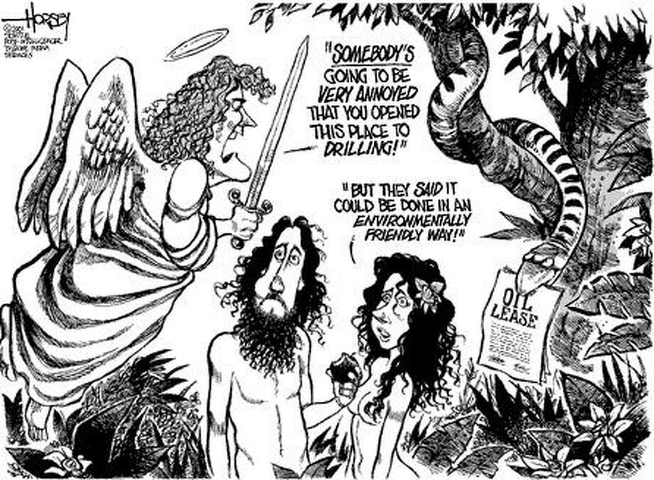 Drilling in the Garden of Eden - Originally published on May 1, 2001 Photo: David Horsey, Seattlepi.com