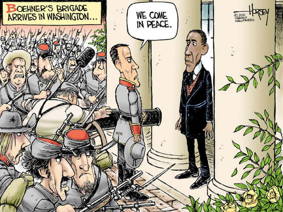 Boehner's brigade arrives in Washington - Originally published on November 5, 2010 Photo: David Horsey, Seattlepi.com