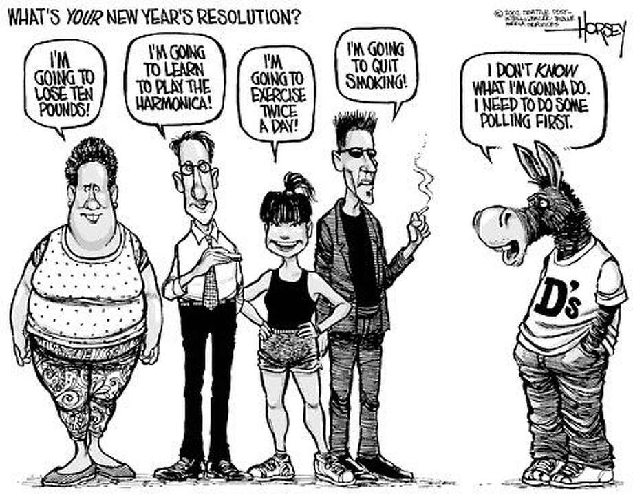 New Year's Resolutions - Originally published on January 1, 2003 Photo: David Horsey, Seattlepi.com
