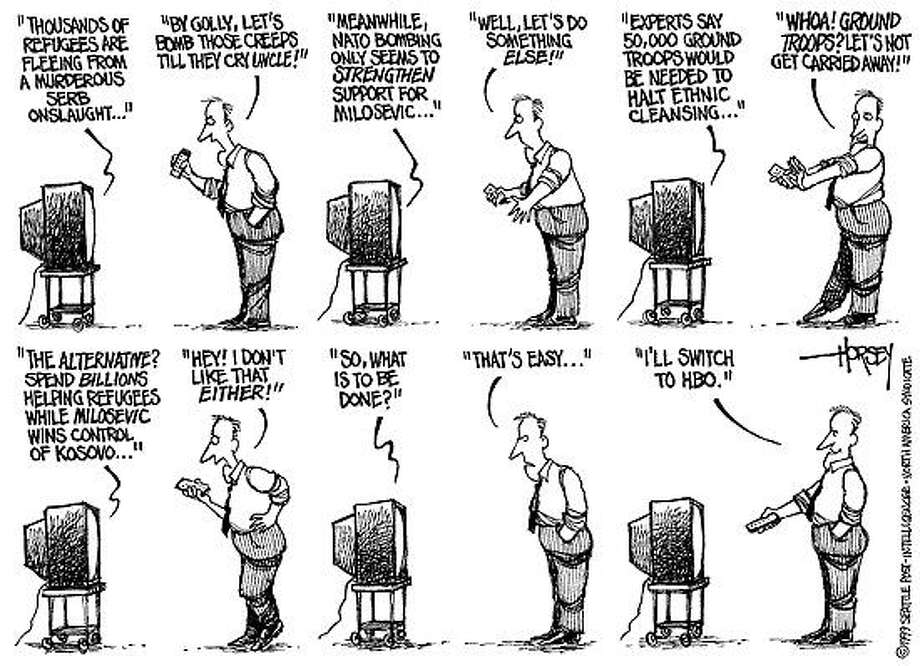 What to Do About Kosovo? - Originally published on April 2, 1999 Photo: David Horsey, Seattlepi.com
