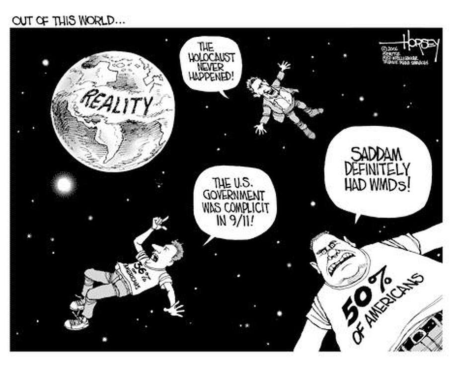 Losing touch with reality... - Originally published on August 9, 2006 Photo: David Horsey, Seattlepi.com