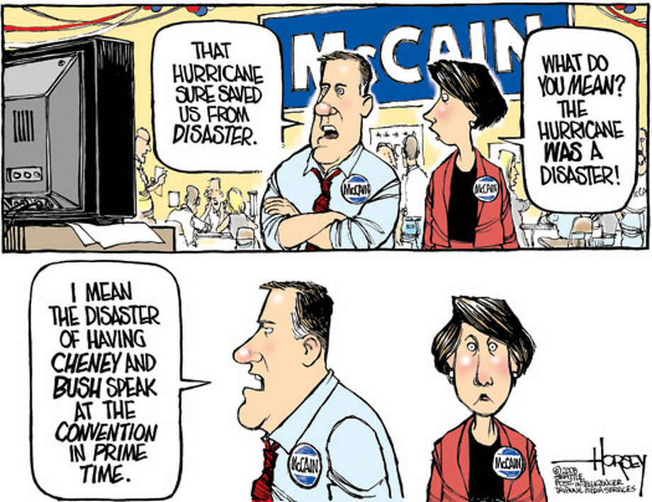 Avoiding a convention disaster - Originally published on September 2, 2008 Photo: David Horsey, Seattlepi.com