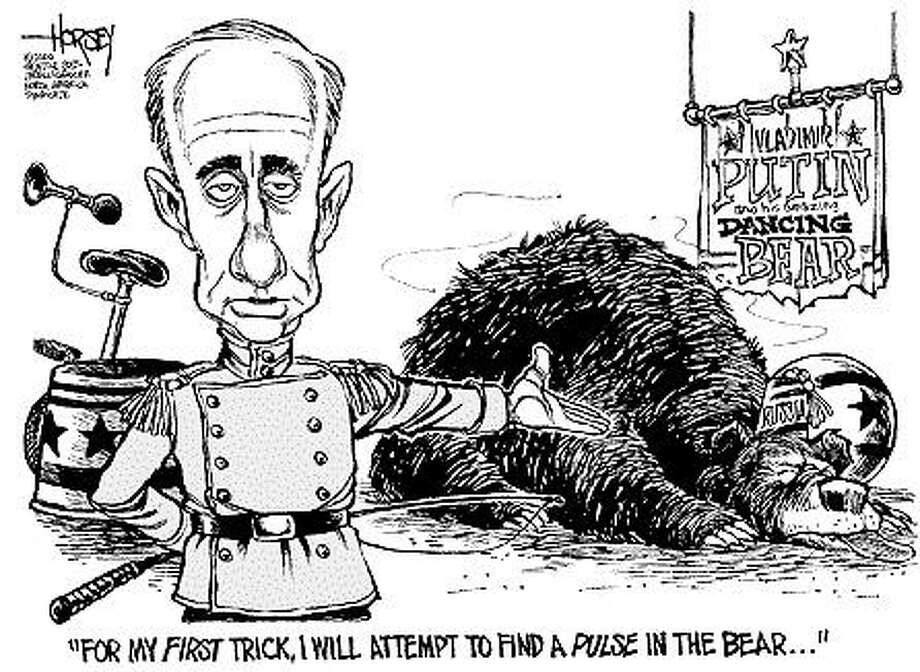 Russian bear - Originally published on April 2, 2000 Photo: David Horsey, Seattlepi.com