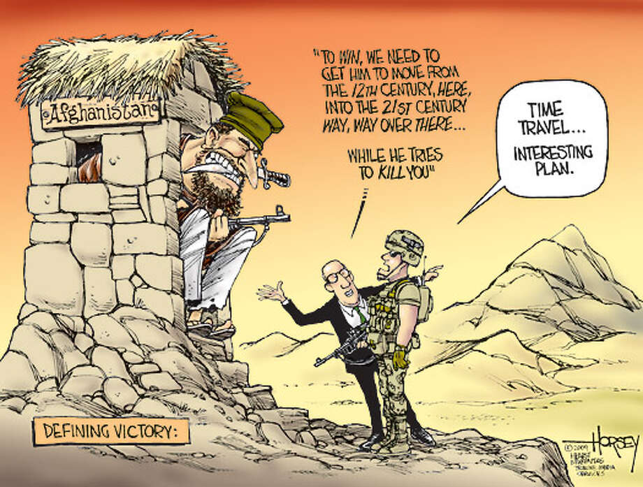 Defining victory in Afghanistan - Originally published on September 1, 2009 Photo: David Horsey, Seattlepi.com