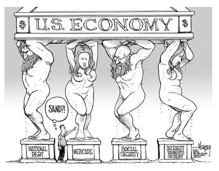 On the looming economic disaster... - Originally published on December 3, 2006 Photo: David Horsey, Seattlepi.com