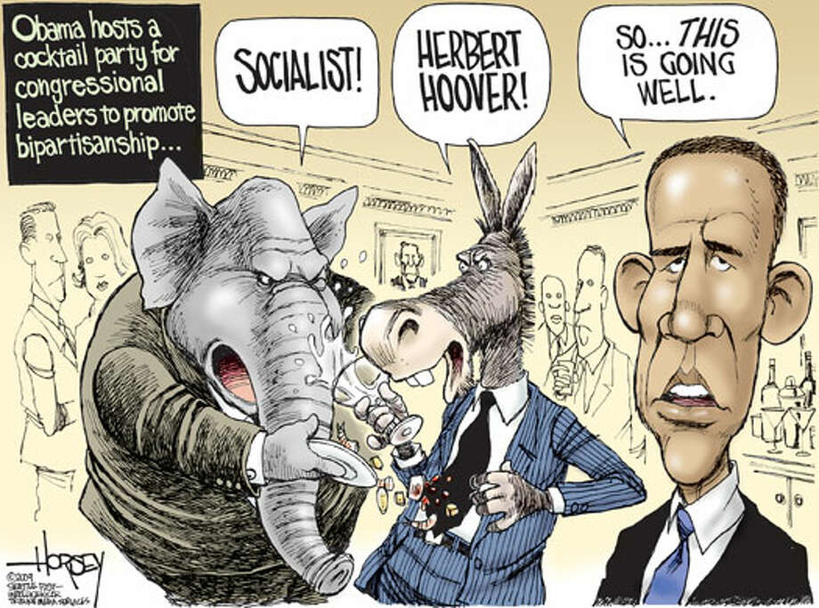 Obama hosts a cocktail party ... - Originally published on February 1, 2009 Photo: David Horsey, Seattlepi.com