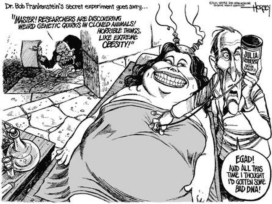 Dr. Frankenstein's secret experiment goes awry... - Originally published on April 1, 2001 Photo: David Horsey, Seattlepi.com