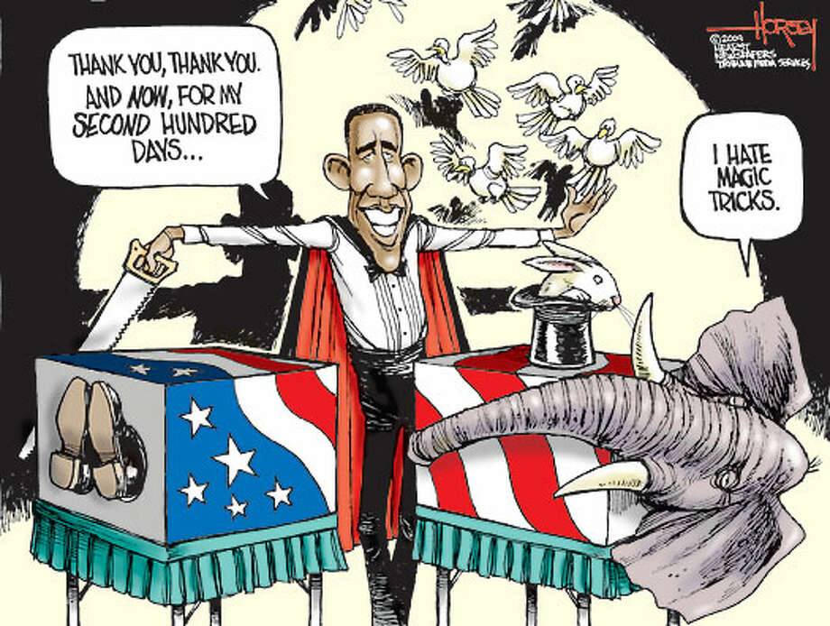And now for my next trick ... - Originally published on May 1, 2009 Photo: David Horsey, Seattlepi.com