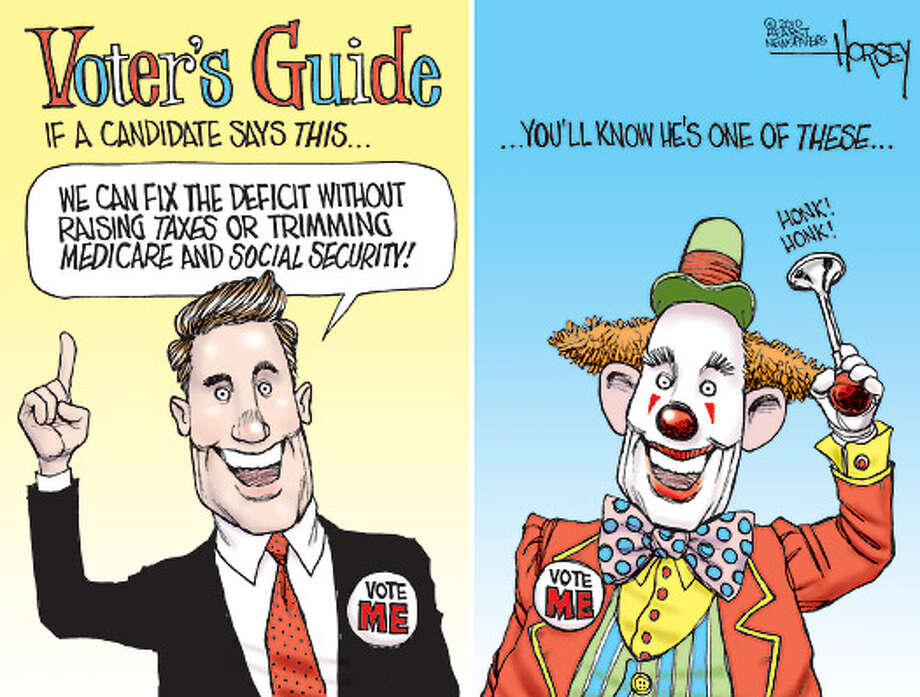 The bozos of the 2010 campaign - Originally published on August 5, 2010 Photo: David Horsey, Seattlepi.com