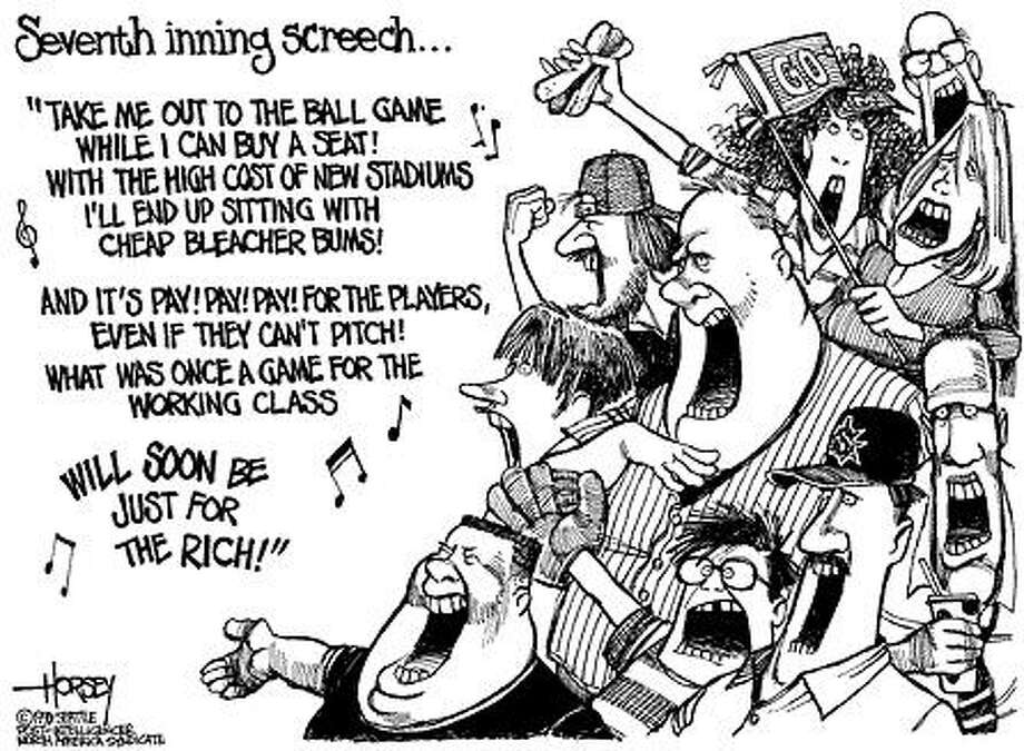 Seventh Inning Screech - Originally published on June 2, 1999 Photo: David Horsey, Seattlepi.com