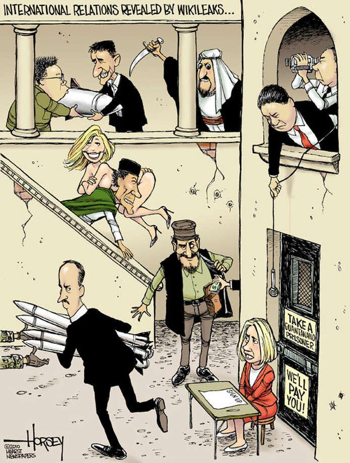 International relations revealed by Wikileaks - Originally published on December 2, 2010 Photo: David Horsey, Seattlepi.com