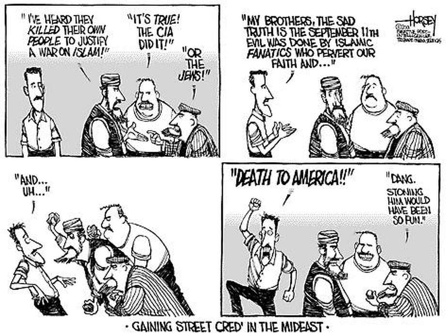 Gaining Street Cred' in the Mideast - Originally published on October 2, 2001 Photo: David Horsey, Seattlepi.com