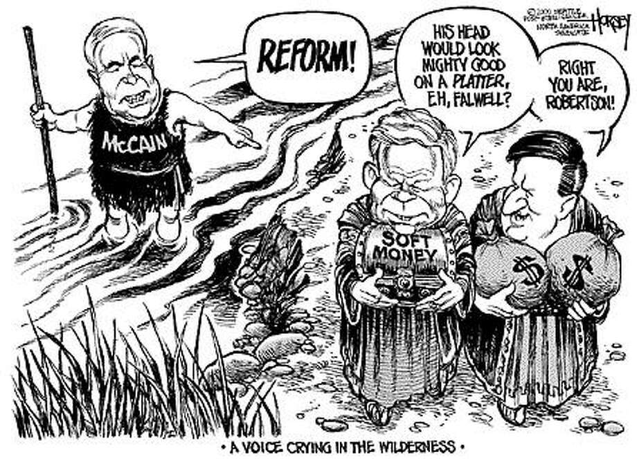 Voice in the Wilderness - Originally published on March 1, 2000 Photo: David Horsey, Seattlepi.com