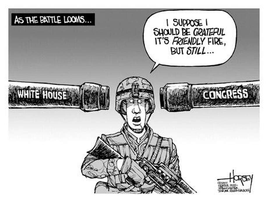 On the Iraq War Showdown ... - Originally published on April 1, 2007 Photo: David Horsey, Seattlepi.com