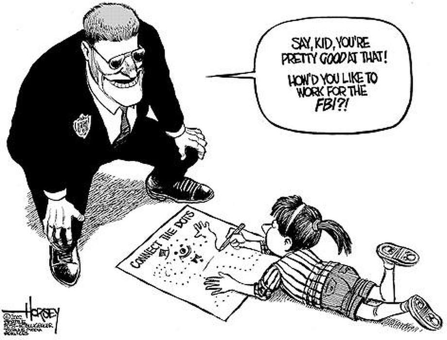 How'd you like to work for the FBI? - Originally published on June 2, 2002 Photo: David Horsey, Seattlepi.com