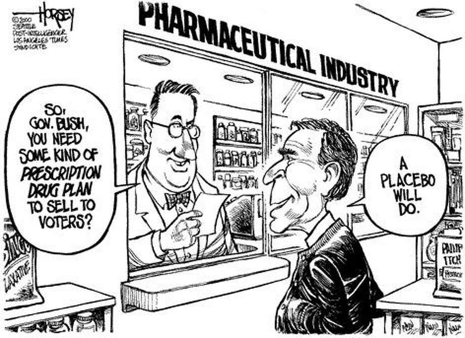 George W. Bush's Health Care Plan? - Originally published on September 1, 2000 Photo: David Horsey, Seattlepi.com
