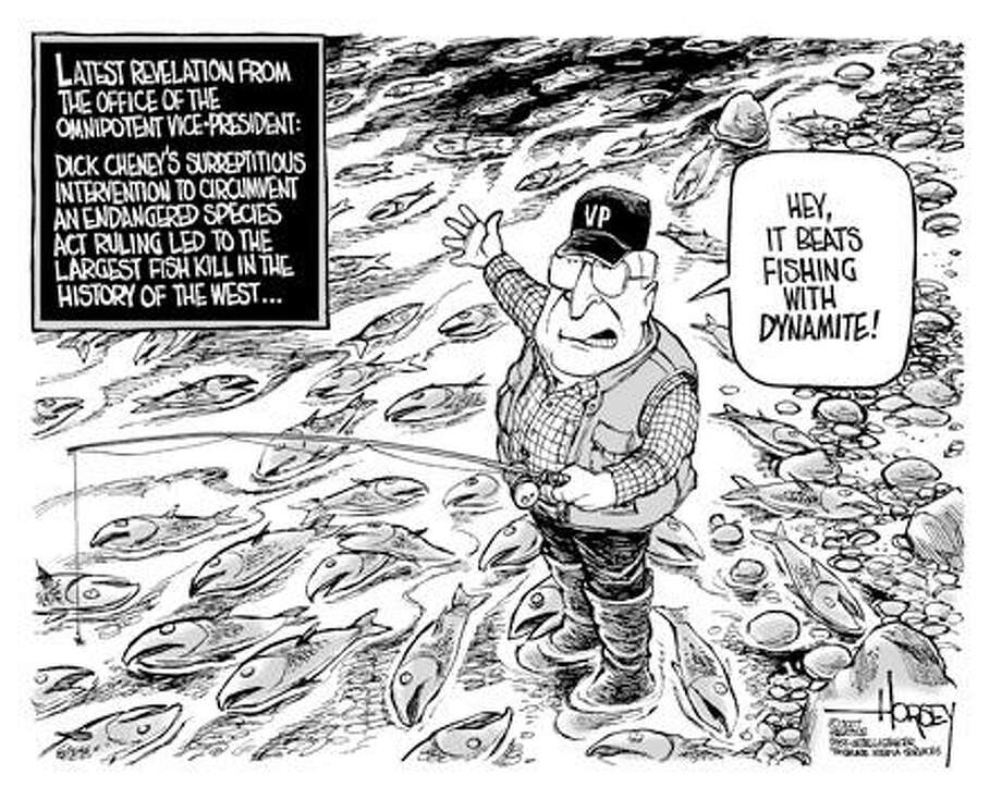 Fish Kill - Originally published on July 1, 2007 Photo: David Horsey, Seattlepi.com