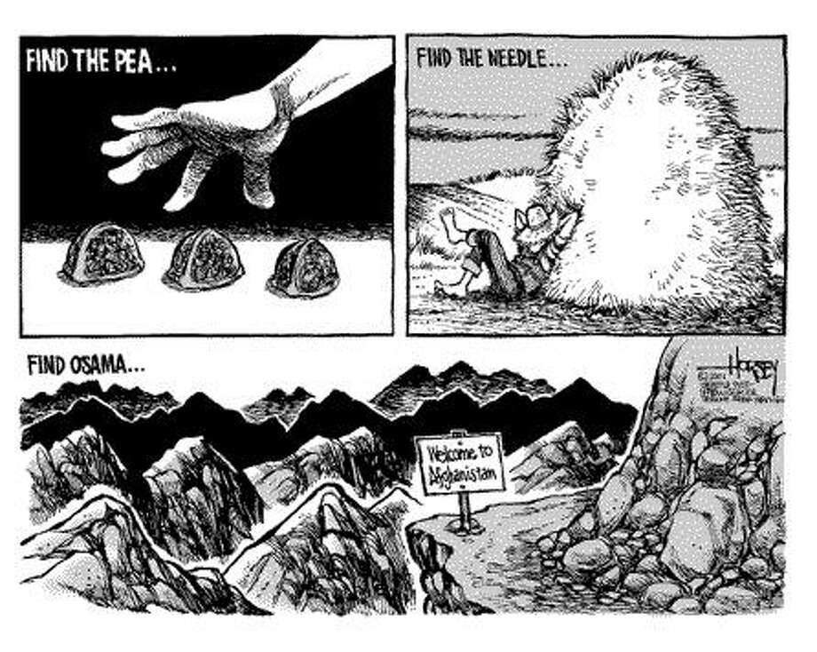 Finding Osama - Originally published on September 27, 2001 Photo: David Horsey, Seattlepi.com
