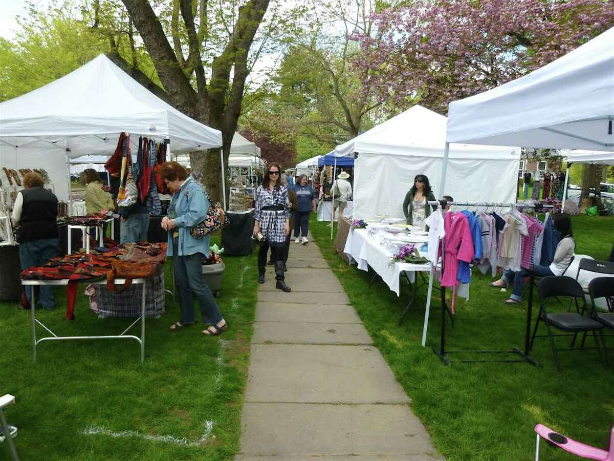Visitors browsed through more than 50 vendors Saturday at the 29th annual Fairfield Woman's Club's Crafts Fai on Sherman Green.