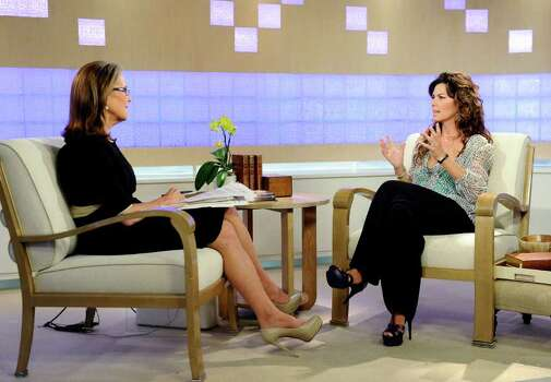 "In this photo released by NBC, ""Today"" show co-host Meredith Vieira, left, talks with singer Shania Twain on the ""Today"" show about her new book ""From This Moment On,"" Wednesday, May 4, 2011, in New York. Photo: AP"