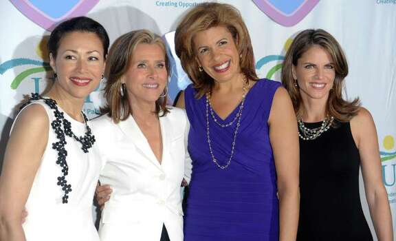 From left, 'The Today Show' co-hosts Ann Curry, Meredith Vieira, Hoda Kotb and Natalie Morales attend the 9th Annual Women Who Care Luncheon benefiting United Cerebral Palsy of NYC at Cipriani's 42nd Street, Thursday, May 6, 2010 in New York. Photo: AP