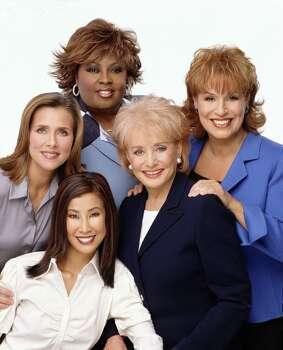 53397_11--THE VIEW--Meredith Vieira, Star Jones, Barbara Walters, Joy Behar, Lisa Ling (front) Photo Credit:  ABC/Michael O'Neill Photo: MICHAEL O'NEILL, C. 2001 ABC, INC. / ABC, INC.