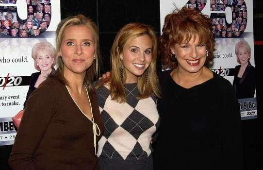 "NEW YORK - SEPTEMBER 22:  ABC's ""The View"" co-hosts Meredith Vieira, Elisabeth Hasselbeck and Joy Behar arrive to the celebration in honor of Barbara Walters and 25 years of ""20/20"" September 22, 2004 in New York City.  (Photo by Bryan Bedder/Getty Images) *** Local Caption *** Meredith Vieira;Elisabeth Hasselbeck;Joy Behar Photo: Bryan Bedder, Getty Images / 2004 Getty Images"