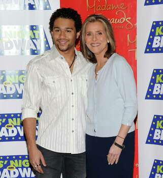 "NEW YORK - FEBRUARY 02:  Actor Corbin Bleu (L) and TV personality Meredith Vieira attend the 14th Annual Kids' Night On Broadway ""Fan Festival"" at Madame Tussauds on February 2, 2010 in New York City.  (Photo by Jason Kempin/Getty Images) *** Local Caption *** Corbin Bleu;Meredith Vieira Photo: Jason Kempin, Getty Images / 2010 Getty Images"