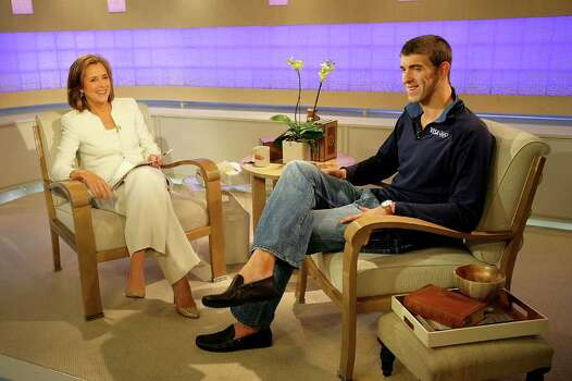 NEW YORK - AUGUST 28: Meredith Vieira interviews 14-time Olympic gold medalist Michael Phelps on NBC's The Today Show on August 28, 2008 in New York City. (Photo by Chris Trotman/Getty Images for Visa) *** Local Caption *** Michael Phelps Photo: Chris Trotman, Getty Images For Visa / 2008 Getty Images