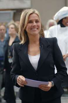 "NEW YORK - SEPTEMBER 13:  Meredith Vieira of the NBC ""Today Show"" broadcasts from Rockefeller Plaza on  September 13, 2006 in New York City. Photo: William D. Bird, Getty Images / 2006 Getty Images"