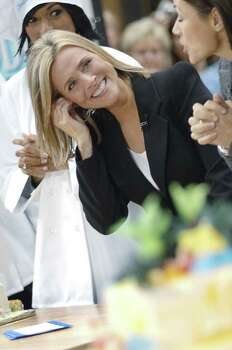 "NEW YORK - SEPTEMBER 13:  Meredith Vieira of the NBC ""Today Show"" broadcasts from Rockefeller Plaza from Rockefeller Plaza on  September 13, 2006 in New York City. Photo: William D. Bird, Getty Images / 2006 Getty Images"