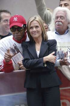 "NEW YORK - SEPTEMBER 13:  Meredith Vieira of the NBC ""Today Show"" with poses fans during the broadcast from Rockefeller Plaza on  September 13, 2006 in New York City. Photo: William D. Bird, Getty Images / 2006 Getty Images"
