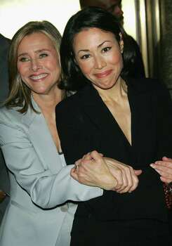 "NEW YORK - MAY 15:  Television personalities Meredith Vieira (L) and Ann Curry, of the NBC ""Today"" show, attend the NBC Primetime Preview 2006-2007 at Radio City Music Hall on May 15, 2005 in New York City. Photo: Evan Agostini, Getty Images / 2006 Getty Images"