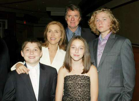 "HOLLYWOOD, CA - SEPTEMBER 16:  (L-R in rear) Television personality Meredith Vieira and husband author Richard M. Cohen, with their children Gabriel, Millie and Ben attend the Dinner of Champions ""Concert at the Kodak"" at the Kodak Theater on September 16, 2005 in Hollywood, California.  (Photo by Stephen Shugerman/Getty Images) *** Local Caption *** Meredith Vieira;Richard M. Cohen Photo: Stephen Shugerman, Getty Images / 2005 Getty Images"