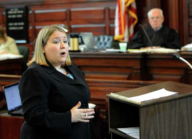 Assistant District Attorney Christa Book presents her opening statements Monday in murder trial of Michael Mosley.  (Skip Dickstein / Times Union) Photo: SKIP DICKSTEIN / 00013077A