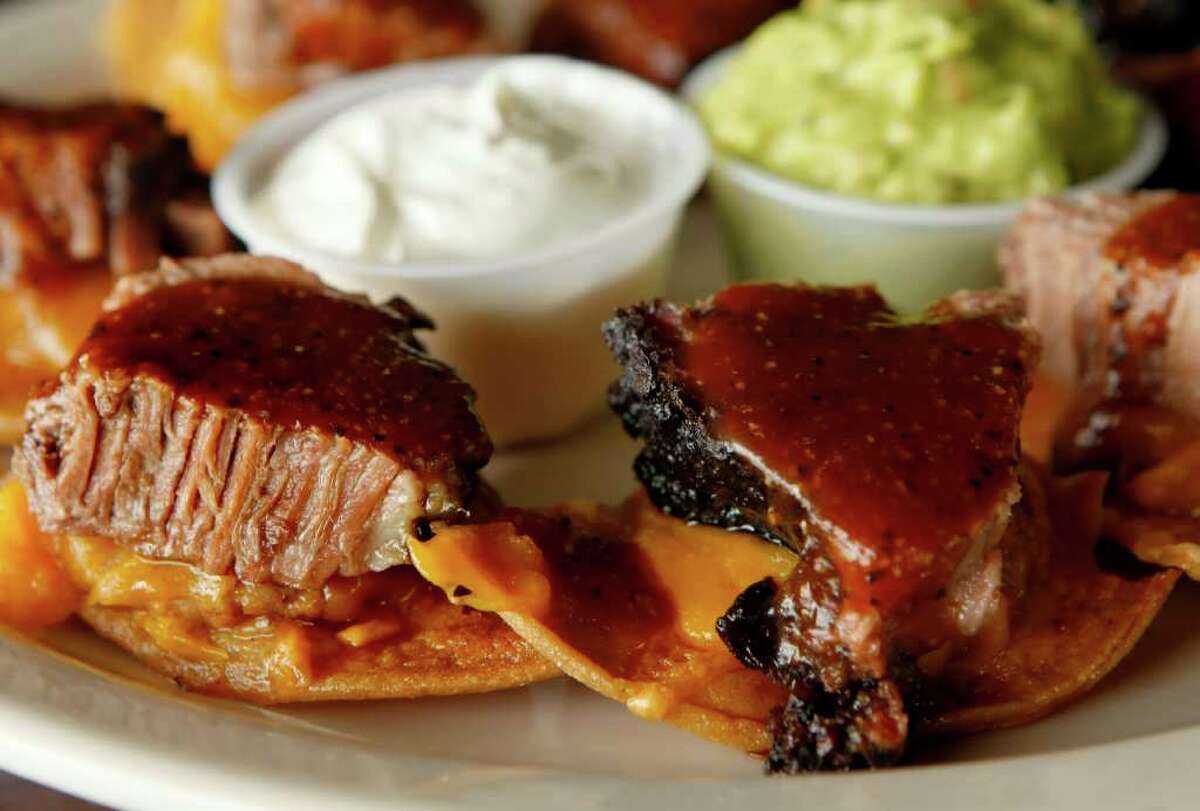 Smoked, moist brisket can be found alone, on sandwiches and as a topping for nachos.