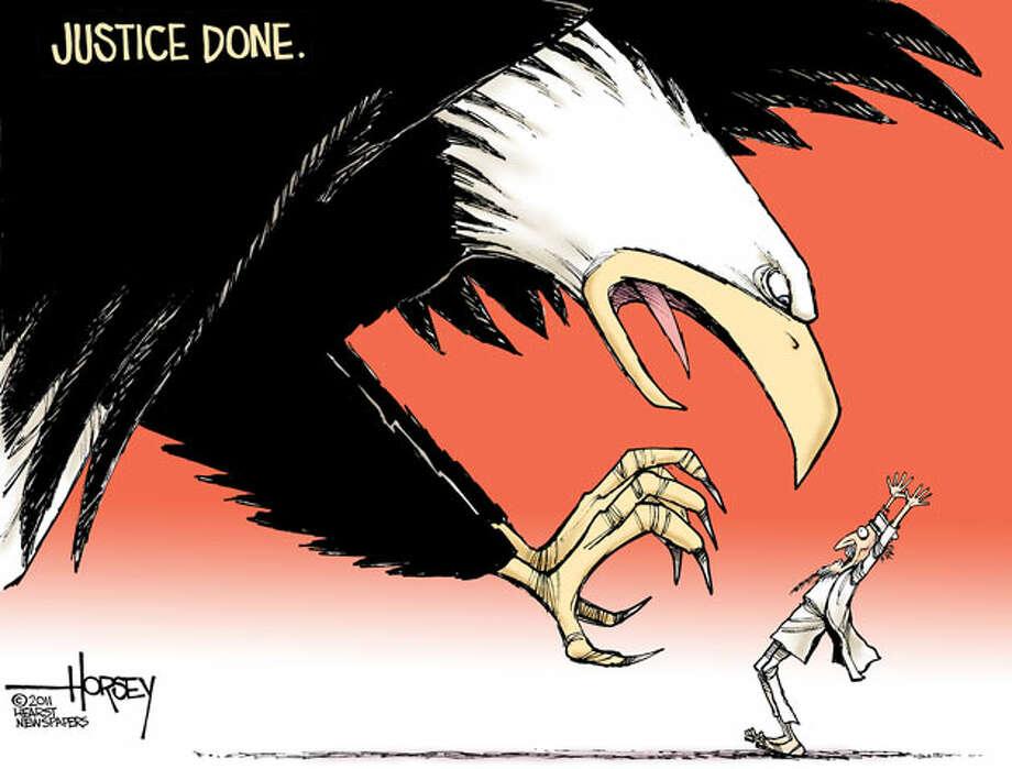 Osama bin Laden's last moment - Originally published May 2, 2011 Photo: David Horsey, Seattlepi.com