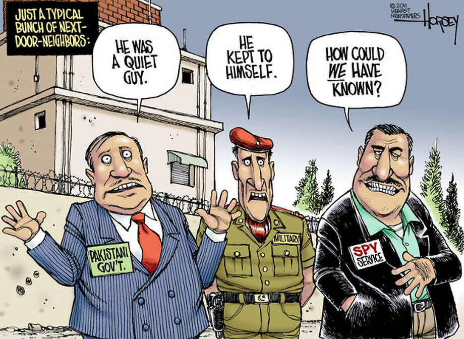 Osama bin Laden: Pakistan's mystery guest - Originally published May 4, 2011 Photo: David Horsey, Seattlepi.com