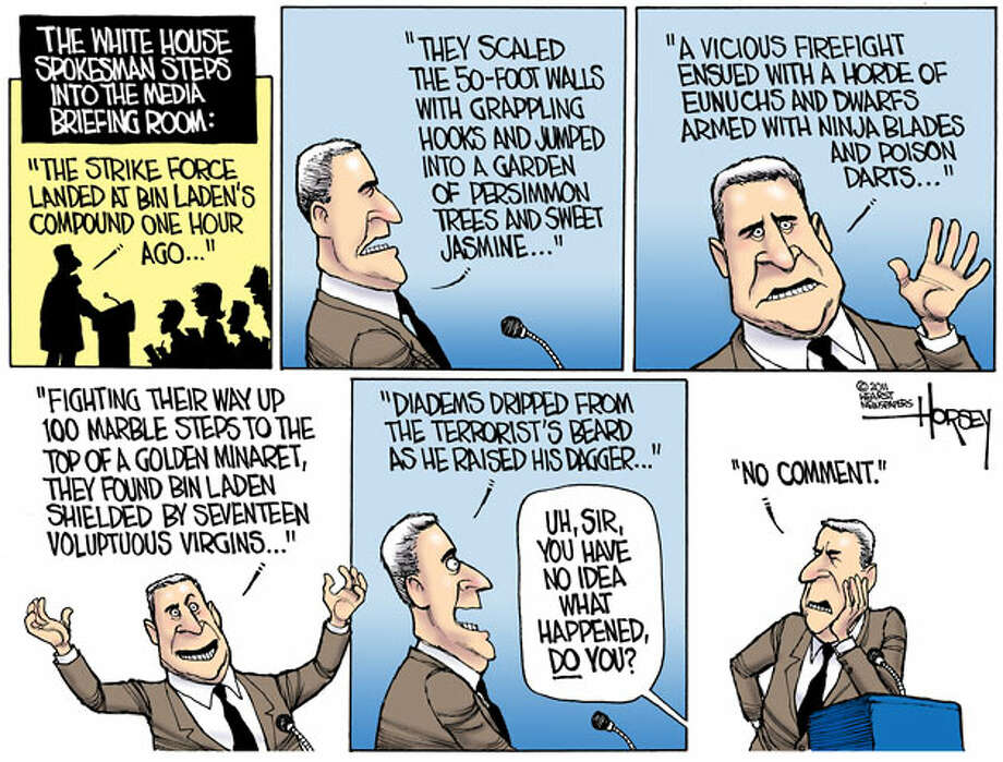 The one fact that matters: Osama bin Laden is dead - Originally published May 5, 2011 Photo: David Horsey, Seattlepi.com