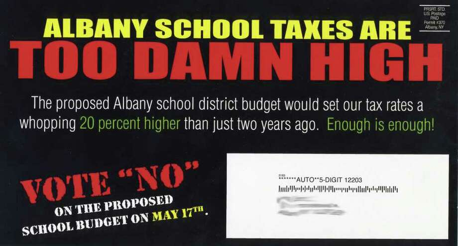 Mailer sent to Albany residents. The mailer has the same permit number as five mailings previously sent by the Brighter Choice Foundation.