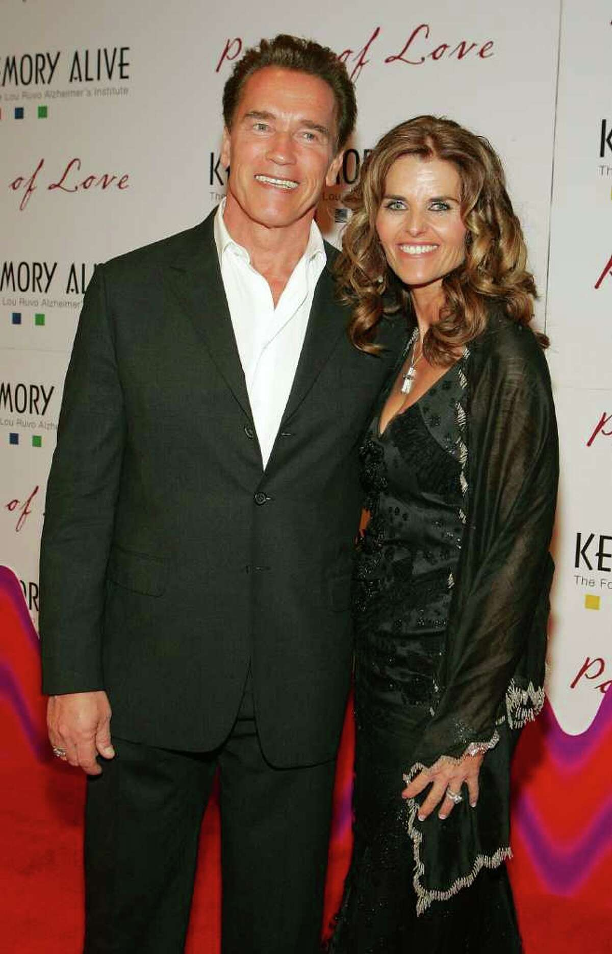 LAS VEGAS - FEBRUARY 11: California Gov. Arnold Schwarzenegger and his wife Maria Shriver arrive at the Keep Memory Alive Foundation's 10th annual gala to benefit the Lou Ruvo Alzheimer's Institute at the MGM Grand Conference Center February 11, 2006 in Las Vegas, Nevada. (Photo by Ethan Miller/Getty Images)