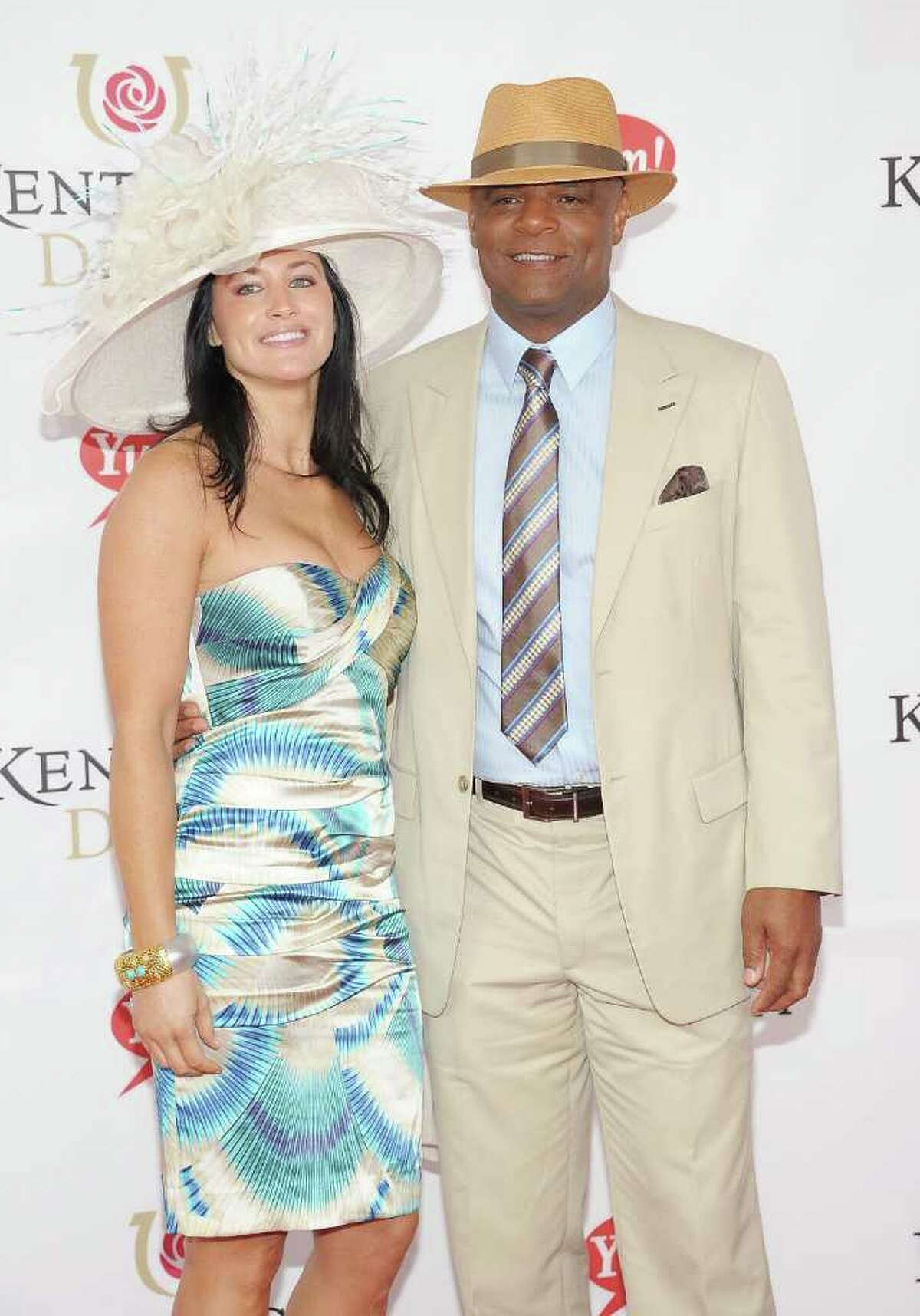 LOUISVILLE, KY - MAY 07: Former Professional Football Player Warren Moon (R) and Mandy Moon attend the 137th Kentucky Derby at Churchill Downs on May 7, 2011 in Louisville, Kentucky. (Photo by Michael Loccisano/Getty Images) *** Local Caption *** Mandy Moon;Warren Moon;