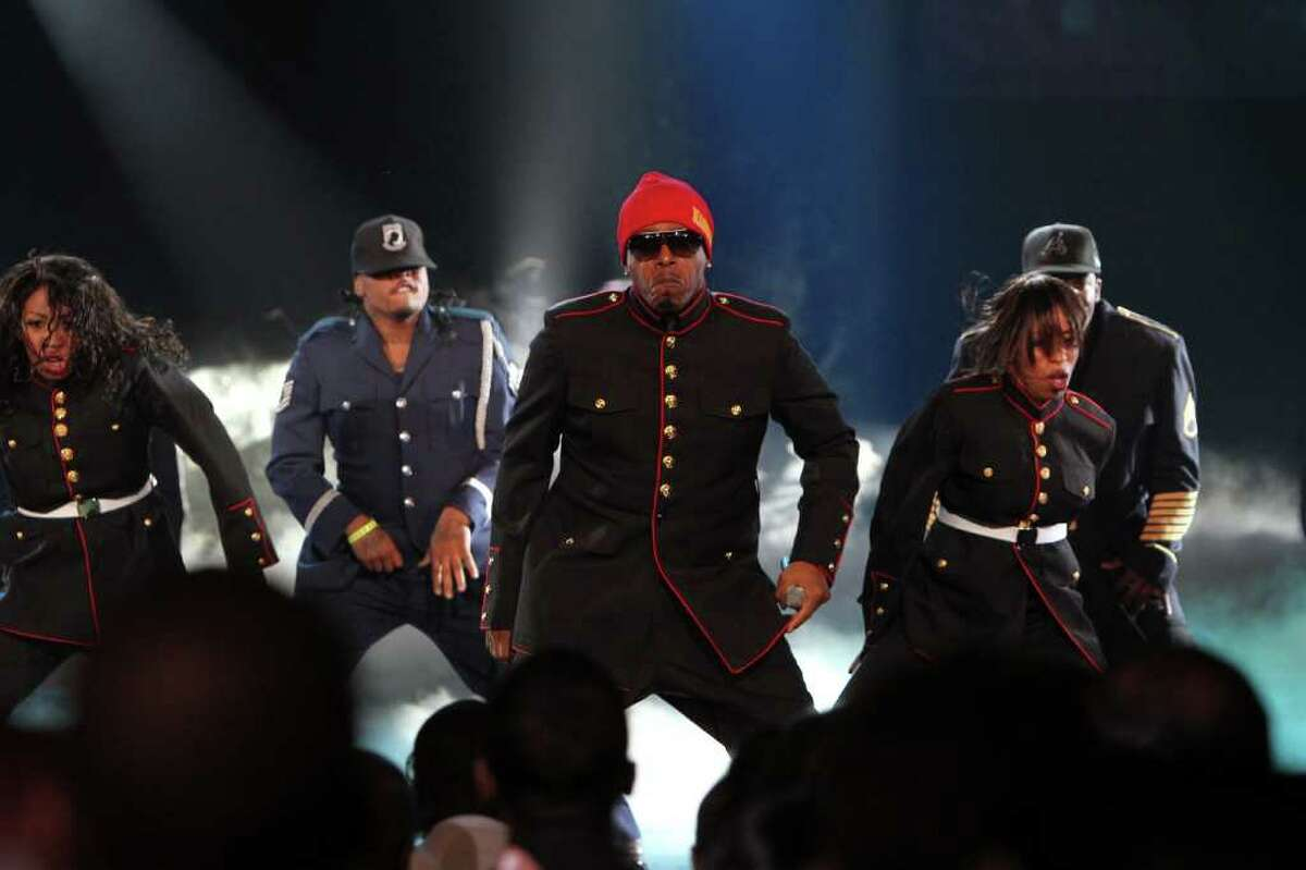 MC Hammer performs during the BET Hip Hop Awards '10 at Boisfeuillet Jones Atlanta Civic Center on October 2, 2010 in Atlanta, Georgia.