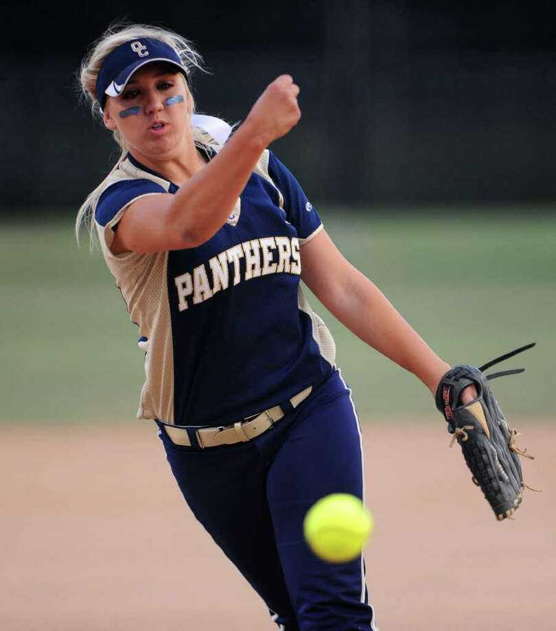 O'Connor sophomore Kenedy Urbany delivers a pitch during a Class 5A second-round softball playoff game between the O'Connor Panthers and the San Marcos Rattlers at Steele High School in Schertz, Texas on May 6, 2011  John Albright / Special to the Express-News. Photo: JOHN ALBRIGHT